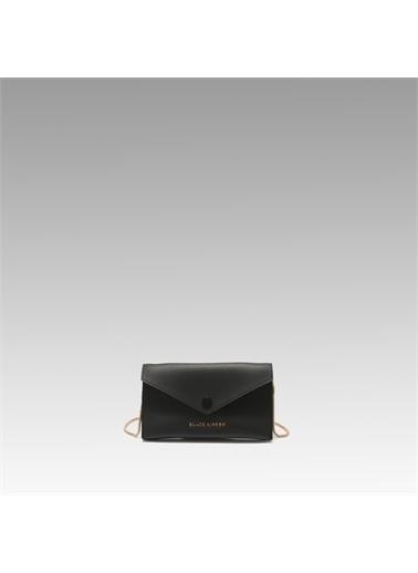 Black Ribbon Çift Taraflı Zincirli Telefon Çantası Siyah